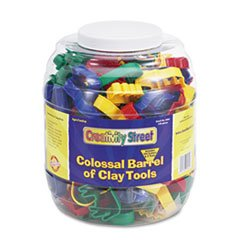 Creativity Street 5604 Colossal Barrel of Clay Tools, 144 Cutters in 24 Designs, Five Tools in Each