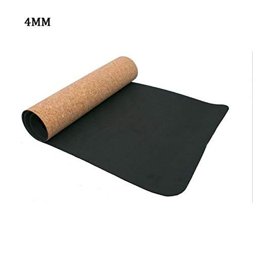 3Mm/4Mm/5Mm/6Mm 18361Cm Black Cork Natural Rubber Yoga Mat Fitness Women Men Pilates Gymnastics Pad Cushion Exercise Sport -