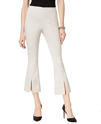 INC International Concepts Curvy-Fit Cropped Split-Hem Pants (Toad Beige, 2)