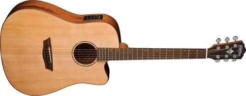 Washburn Solid Wood Series WD150SWCE Dreadnought Acoustic El