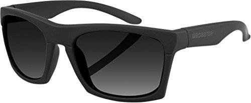 Bobster CAPONE Unisex-Adult Sunglass (Black Frame/Smoke Lens, - Sunglasses Mr