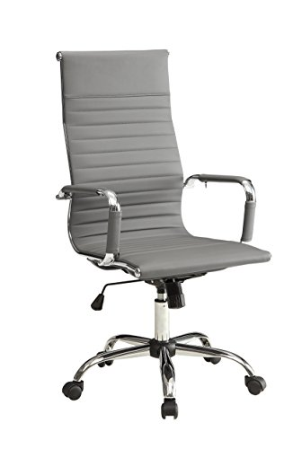 Furniture of America High-Back Rodis Height-Adjustable Office Chair, Gray by Furniture of America