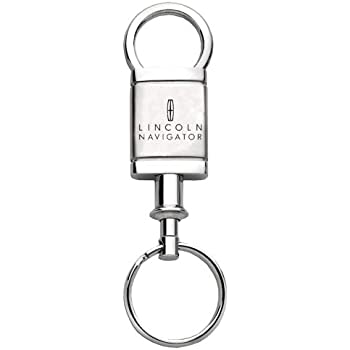 Lincoln Navigator Satin Chrome Valet Keychain