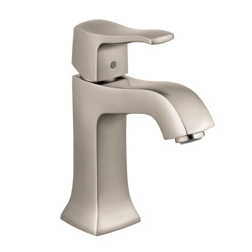 hansgrohe Metris C  Classic 1-Handle  7-inch Tall Bathroom Sink Faucet in Brushed Nickel, 31075821