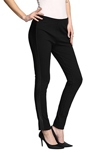 T-shirt Like Needs Pants (MOVING DEVICE Women's Tapered Pant With Side Stripe   Elastic Waist Trousers For Casual Daily Wear   Black)