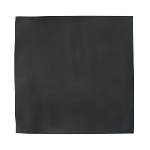 Thick Leather Square 3.5mm (12 x 12 in.) for Crafts/Tooling/Hobby Workshop, Heavy Weight (3.5mm) by Hide & Drink :: Charcoal - Tanned Leather Black