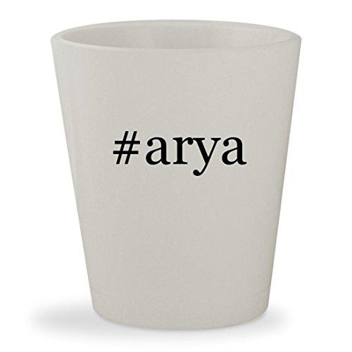 #arya - White Hashtag Ceramic 1.5oz Shot (Eragon Arya Costume)