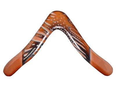 Aussie Fever Wooden Boomerang - Aboriginal Artwork, Made in Australia! (Boomerang Wood)