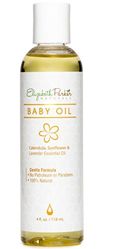 Natural Baby Oil with Calendula, Sunflower and Lavender Essential Oil for Sensitive Skin (4oz)