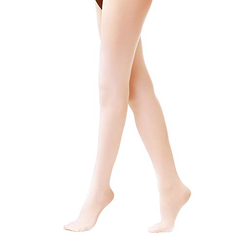 Tights for Girls Ballet Leotards Toddler Dance Leggings Pants Footed Kids (Ballet Pink - 1 Tights, 5-10 Years) ()