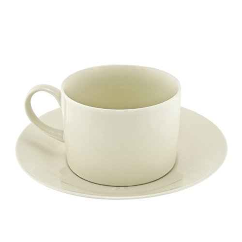 10 Strawberry Street RCR00096 Royal Collection Can Cup/Saucer, Set of 6, Cream