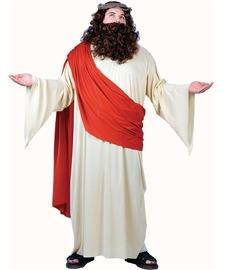 FunWorld Men's Plus Jesus Costume, Cream/Red, Plus Size Costume ()