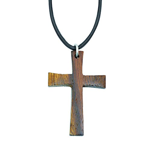 Bob+Siemon+Wood+Cross+Necklace+on+24%22+Adjustable+Cord+%28Traditional%29