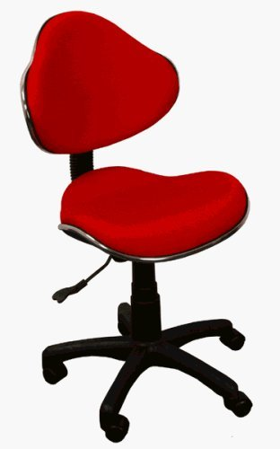 Fabric Ergonomic Task Home Office Computer Chair, Red