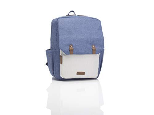 Babymel George Diaper Changing Backpack, Mid Blue/Oatmeal