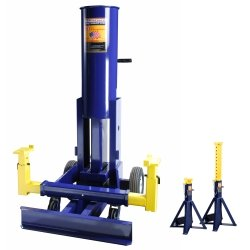 10 Ton Air Operated End Lift with High Lift 10 Ton Stands tool & industrial by Omega