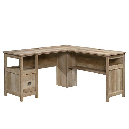 Sauder 422884 Cannery Bridge L-Desk, Lintel Oak Finish