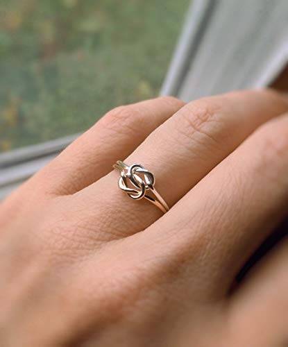 Double Knot Ring, Knot Rings, Minimalist Love Rings, Tie the Knot Rings, Slim Stacking Rings, Sterling Rings, Rings, Anniversary Rings, Love Knot