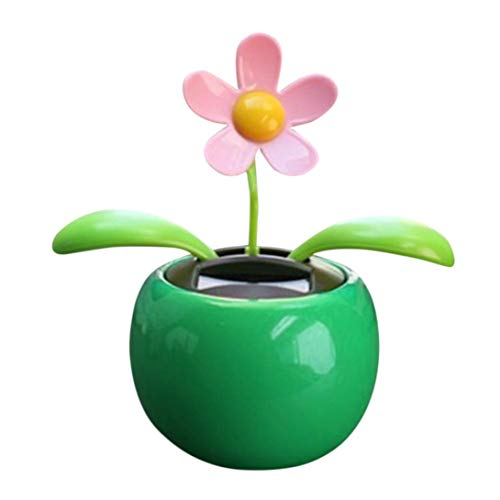 Gotian Solar Powered Dancing Flower Swinging Animated Home Car Decoration Dancer Toy Gift Green ()