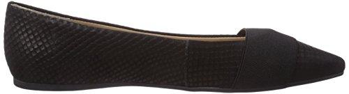 Buffalo London ZS 3232-13 FISH SKIN - Bailarinas de piel para mujer negro - Schwarz (BLACK 01)