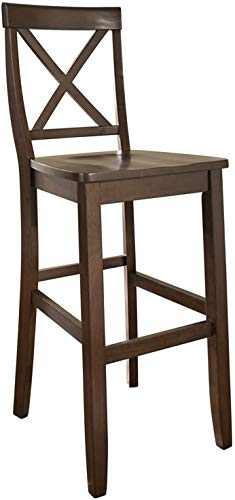 Crosley Furniture CF500430-MA X-Back Bar Stool (Set of 2), 30-inch, Vintage Mahogany (Bar Stool 42 Inch Bar For Height)