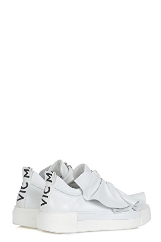 VIC MATIÉ Women's 1S6227DWHT White Leather Slip on Sneakers ITDEe9Qw