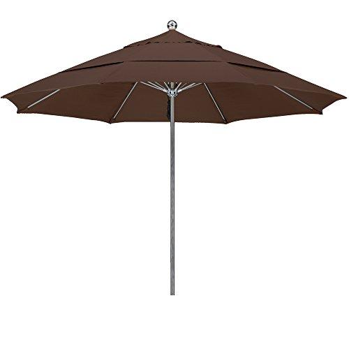 Bay Brown Rib - Eclipse Collection 11'SSteel SinglePole FGlass Ribs M Umbrella DV Anodized/Sunbrella/Bay Brown