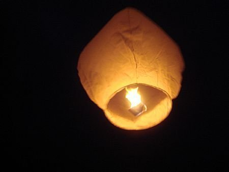 1332 W10 Eco Friendly Pack of 10 Traditional Chinese Thai Flying Glowing Sky Lanterns in White Colour by THT Trade