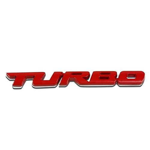 UrMarketOutlet TURBO Red/Chrome Aluminum Alloy Auto Trunk Door Fender Bumper Badge Decal Emblem Adhesive Tape Sticker 1991 Audi 200 Turbo