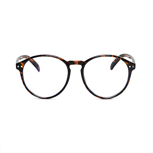 Blu Laani Blue Light Blocking Glasses Round Frame Computer and Screen Reading Eyeglasses Reduces Digital Eye Strain and Headache Anti Glare Lens Light Weight ()