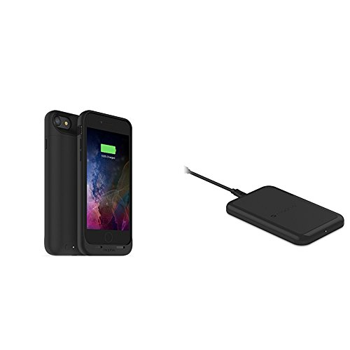 mophie juice pack wireless  - Charge Force Wireless Power - Wireless Charging Protective Battery Pack Case for iPhone 7 – Black plus mophie Charge Force Wireless Charging Base bundle by