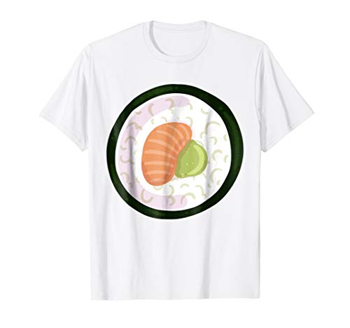 Sushi Costume Shirt - Tuna Avocado Maki Sushi Roll Halloween]()
