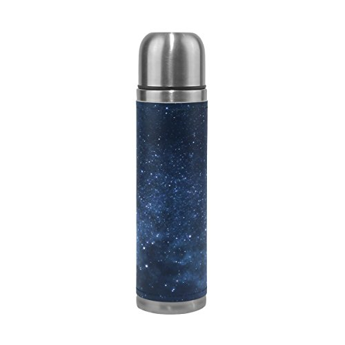 TSWEETHOME Vacuum Insulated Water Bottle Double Wall Stainless Steel Leak Proof Wide Mouth with Novelty Graphic Mysterious Universe Nebula Compact Bottle Beverage Bottle
