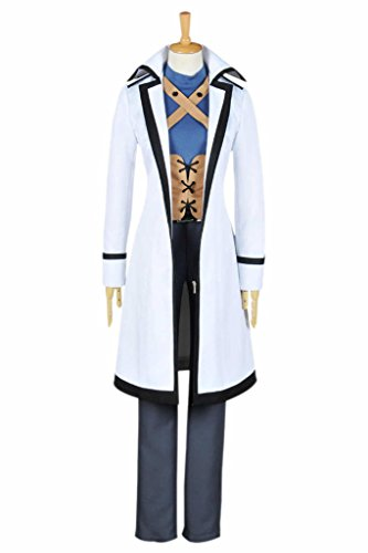 DreamDance Fairy Tail Cosplay Gray Fullbuster Costume White Male M -