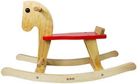 乗馬用ロッキングホース 子供のおもちゃ ロッキングチェア ホーム ベッドルーム 木製 子供用 木製 馬 アウトドア おもちゃ ロッキングチェア 最高のギフト レッド