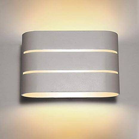 Maxmer 6W Lampada da Parete a LED Interno Moderno Applique da Parete per  Camera da Letto Salotto Corridoio Scale Bianco Caldo
