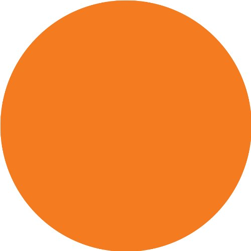 Brewster WPD90200 Wall Pops Totally Orange Dot, Set of 5 Stickers -