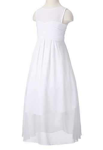 Kleid ROSE Weiß HAPPY Mädchen Linie A a6qqpFwO