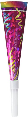Beistle 60358 6-Pack Prismatic Party Horns, ()