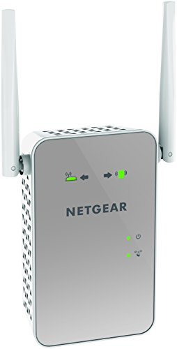 NETGEAR 11AC 1200 Mbps Dual Band Gigabit 802.11ac (300 Mbps + 900 Mbps) Wi-Fi Range Extender with External Antennas (Wi-Fi Booster) (EX6150-100UKS)