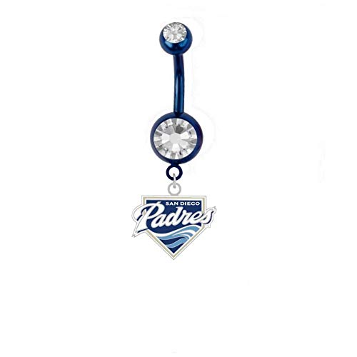 Final Touch Gifts San Diego Padres Belly Ring