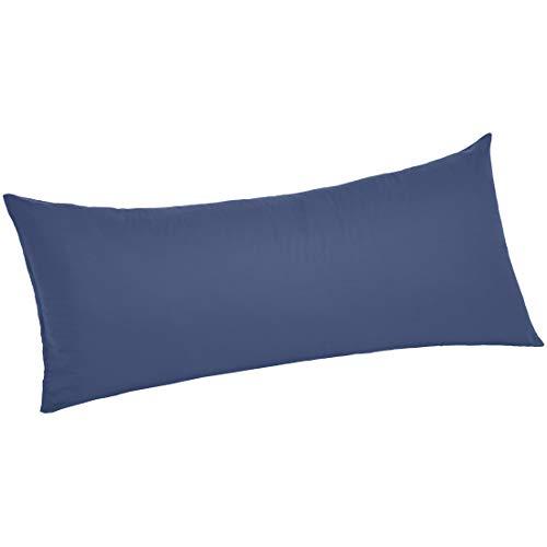 AmazonBasics Ultra-Soft Body Pillowcase - Breathable, Easy to Wash - 55