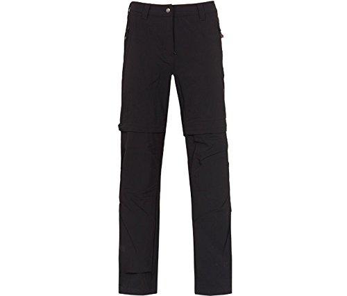 Bergson Damen Zip-Off Radhose schwarzburn