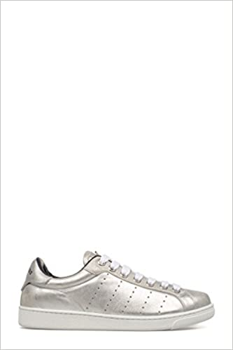 SILVER LEATHER SNEAKERS (8081954789250