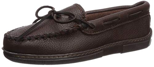 (Minnetonka Women's Moosehide Classic Slip-On,Chocolate,8.5 M US)