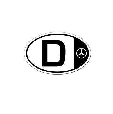 Mercedes Benz Magnetic Oval Bumper Sticker Magnet European D for Deutschland//Germany