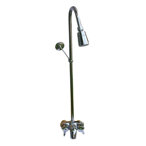 LASCO 08-2151 3/8-Inch Center Bath Cock with Diverter Spout, 50-Inch Riser, Shower Head and Support Bracket, Chrome Plated