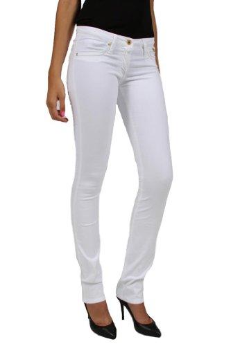 - Robin's Jean Marilyn White Stretch Poplin Studded Straight Leg