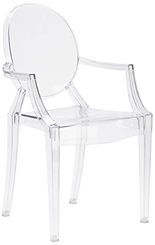 (Poly and Bark Burton Arm Chair in Clear (Set of 4))