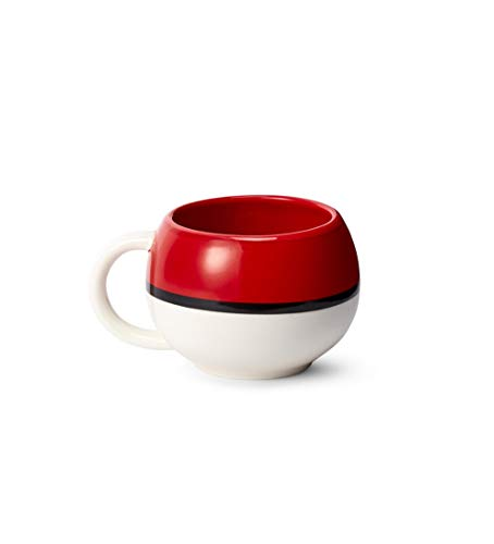 Nintendo Sculpted Ceramic Mug 2 Piece Set 2 Pack Pokemon Pokeball